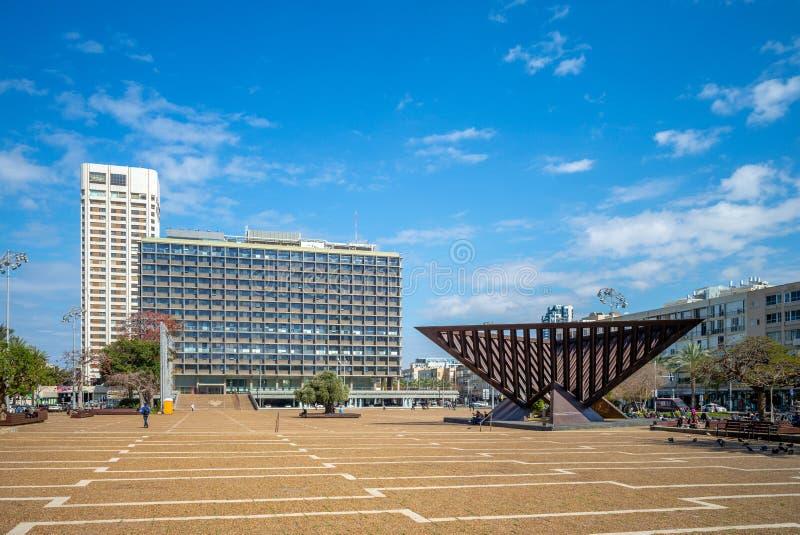 拉宾广场在特拉维夫,以色列 免版税库存照片