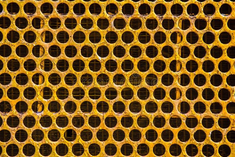 拖拉机-碧差汶府,泰国幅射器蜂窝栅格  免版税库存照片