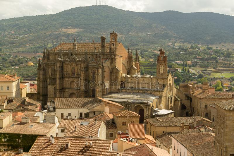 普拉森西亚新的大教堂  免版税库存图片