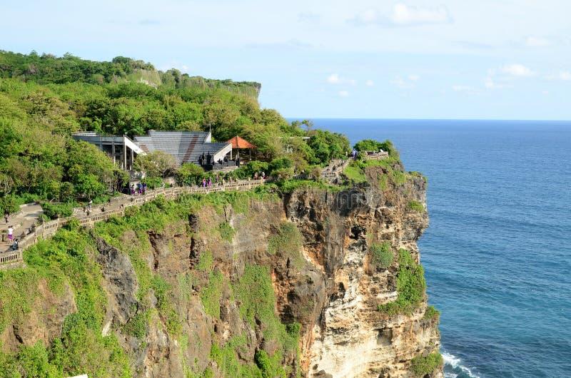 普拉Luhur Uluwatu寺庙在巴厘岛,印度尼西亚 免版税库存照片