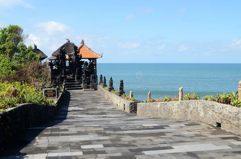 普拉Luhur Uluwatu寺庙在巴厘岛,印度尼西亚 库存照片