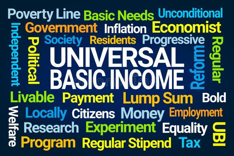 普遍基本的收入词云彩 向量例证