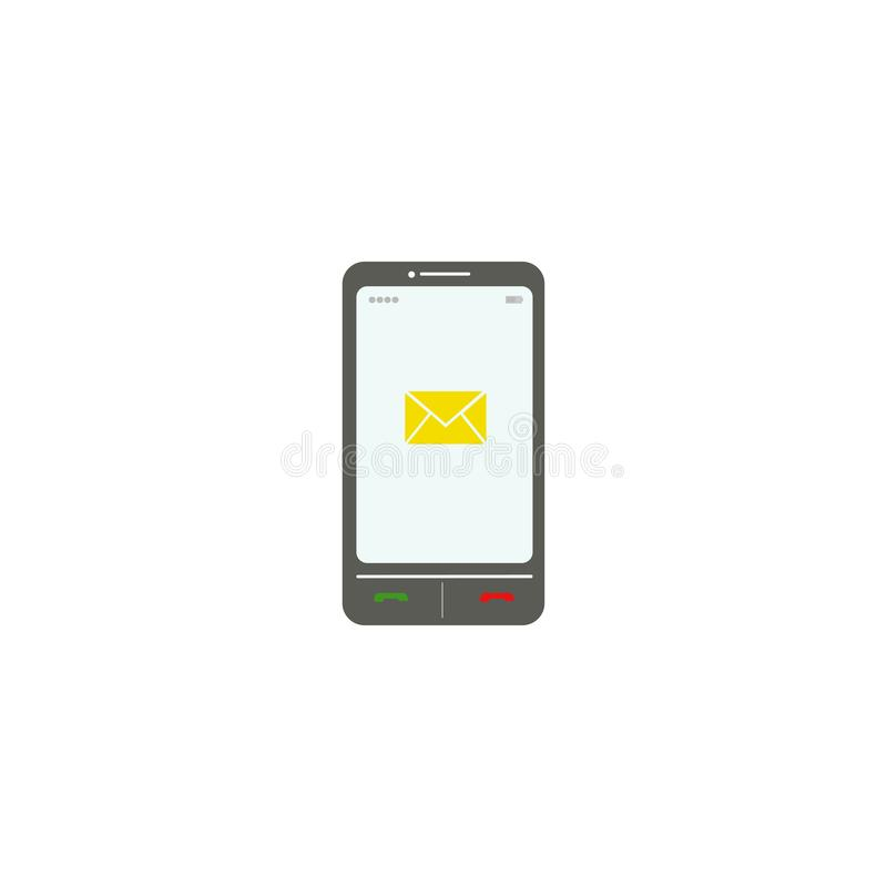 智能手机 信封 SMS 也corel凹道例证向量 10 eps 向量例证