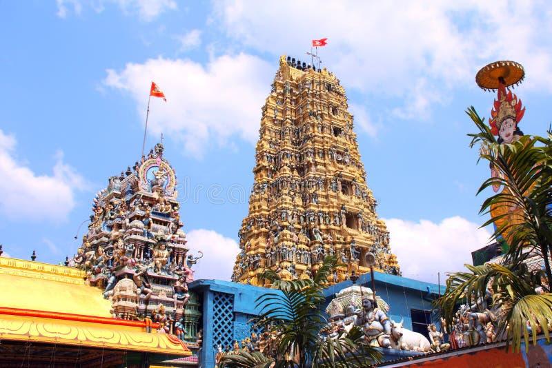 斯里Muthumariamman Thevasthanam印度寺庙,马特莱,斯里兰卡 库存图片