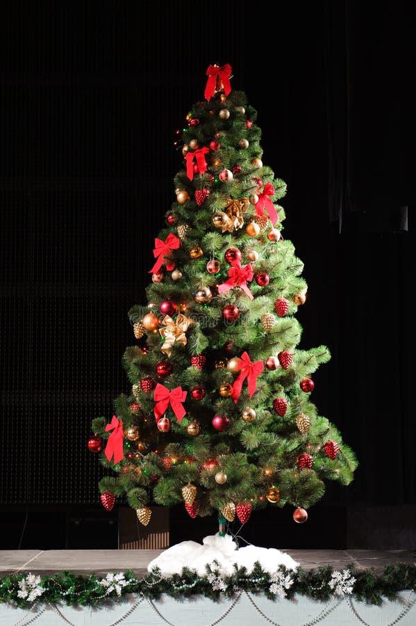 新年快乐和圣诞快乐装饰卡片背景纹理 免版税库存照片