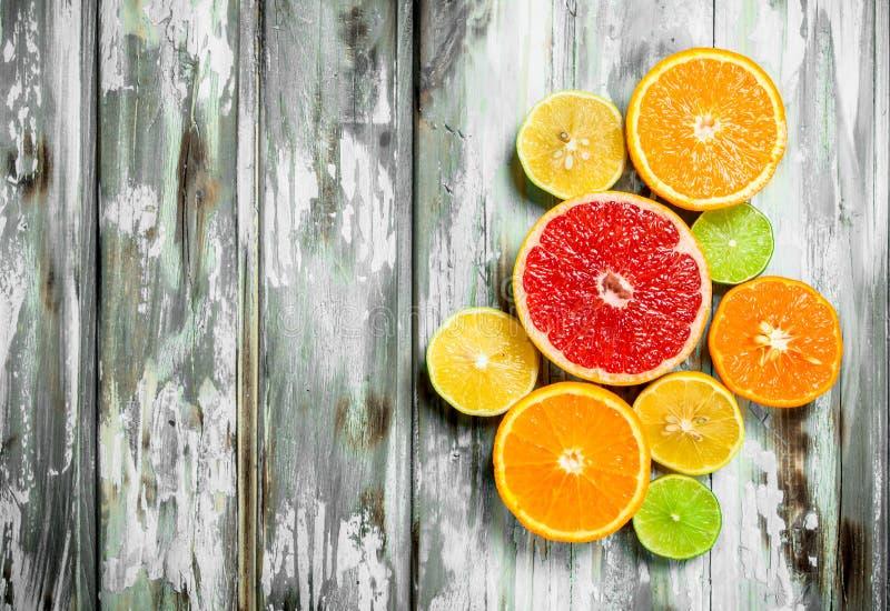 新鲜的明亮的柑橘 库存照片
