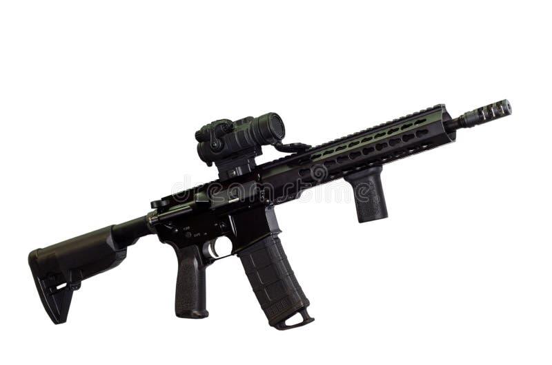 攻击步枪白色背景 免版税库存图片