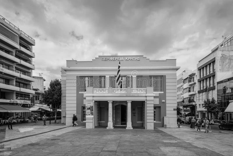 政府克利特的大厦地区 库存照片