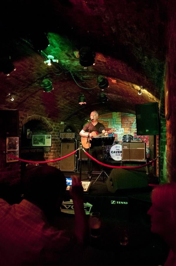 洞穴俱乐部,利物浦,英国 免版税库存图片