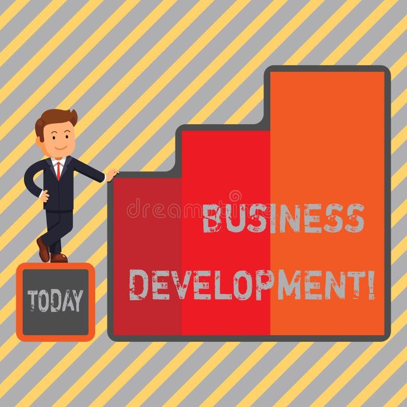 文字笔记演艺界发展 企业照片陈列开发并且实施组织成长 向量例证