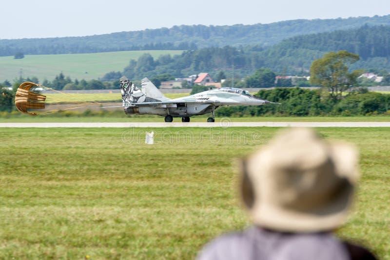 Æreo a reazione del fulcro Mig-29 fotografia stock libera da diritti