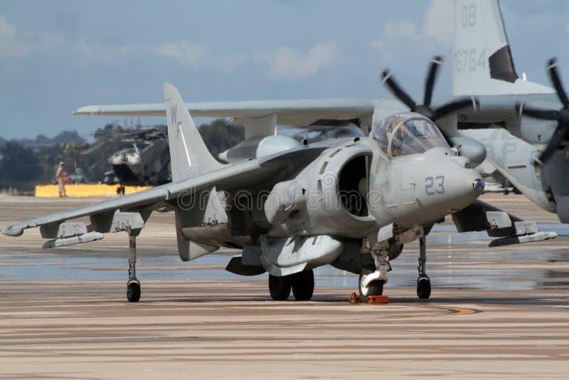 Æreo a reazione di salto del predatore II di McDonnell Douglas AV-8B fotografie stock libere da diritti