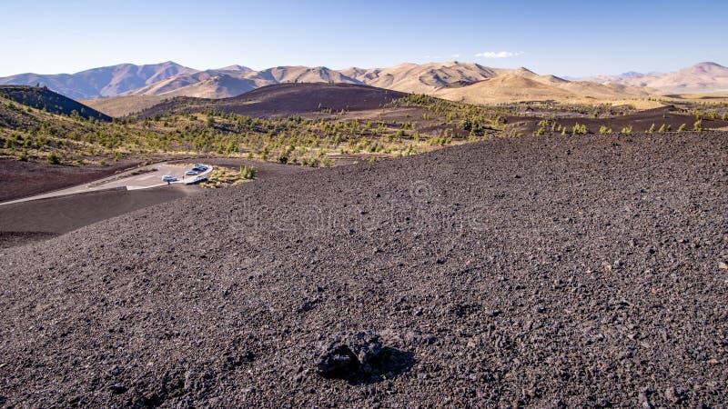 火山口爱达荷纪念碑月亮国民 库存照片