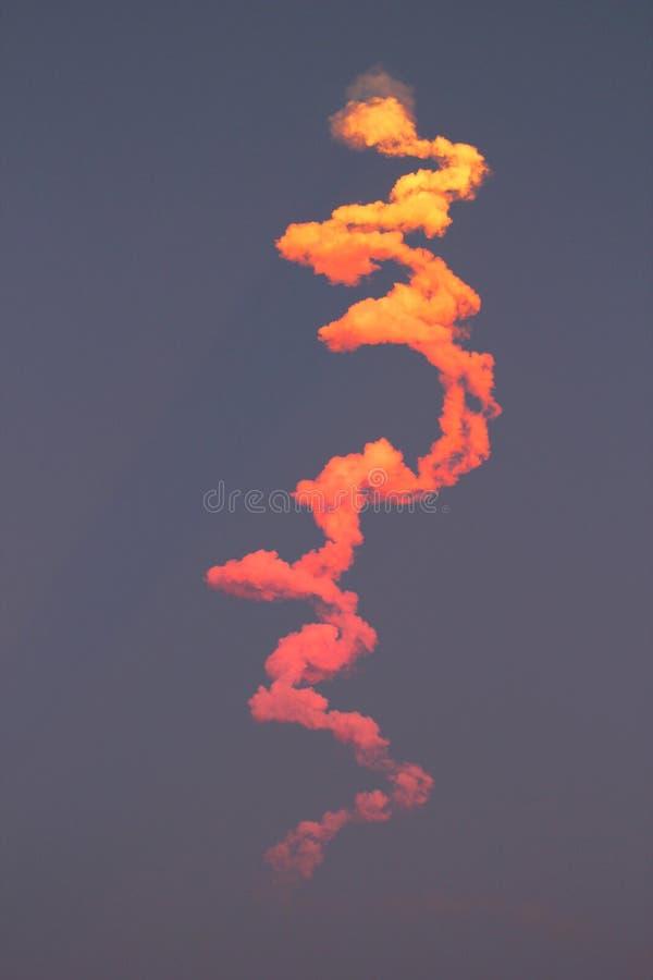 火箭队从卡纳维拉尔角开始间隔 卫星 美好的颜色梯度 库存图片