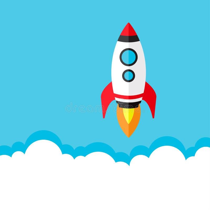 火箭队发射,开始  也corel凹道例证向量 库存例证