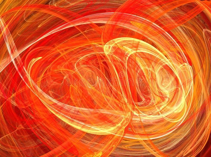 火焰快速的迷离圈摘要 皇族释放例证