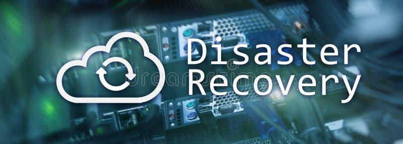 灾后重建 数据预防损失的措施 背景的服务器室 库存例证