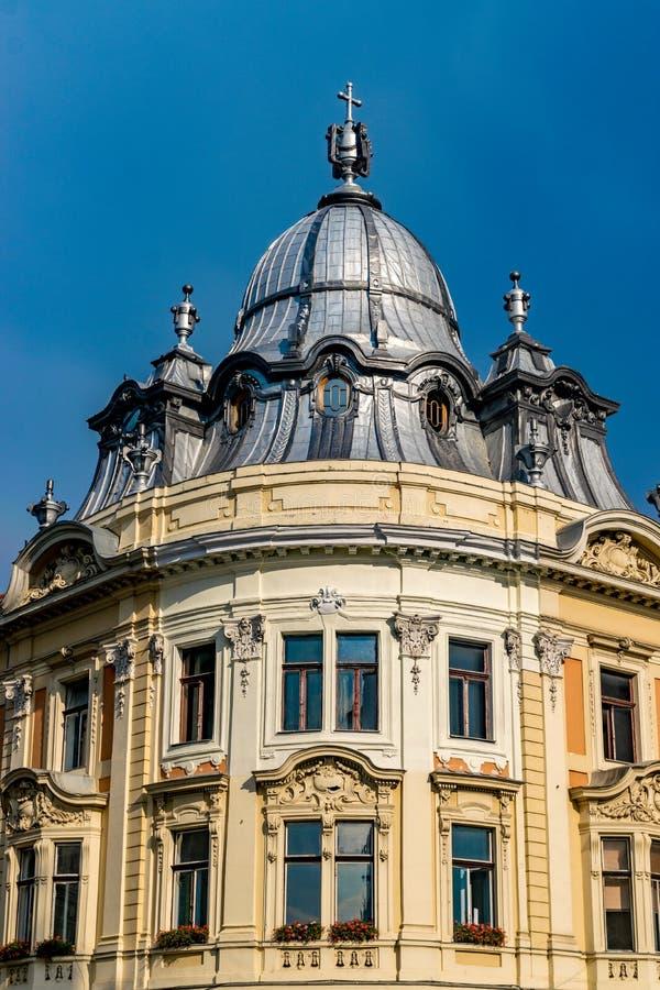 班菲宫殿巴洛克式的大厦在克卢日-纳波卡,罗马尼亚 库存照片
