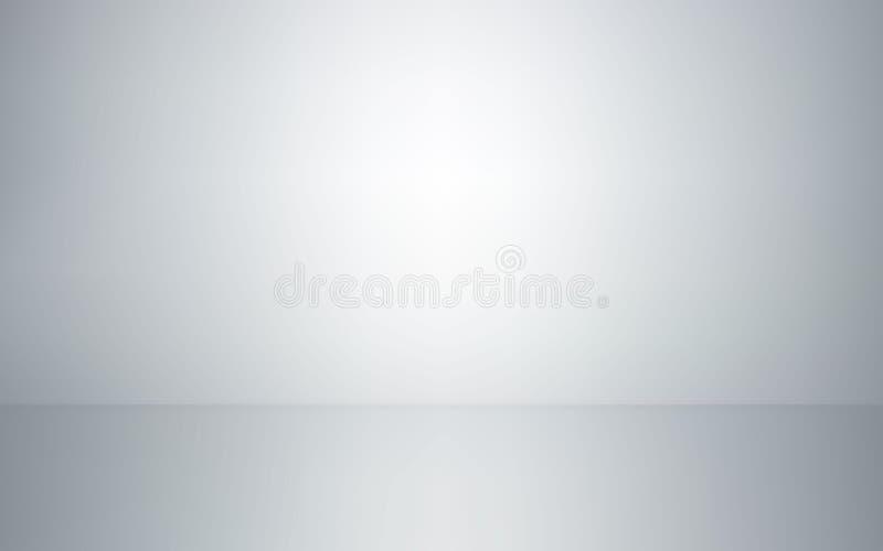 空的演播室室内部 白色墙壁和地板背景 清洗摄影或介绍的车间 也corel凹道例证向量 皇族释放例证