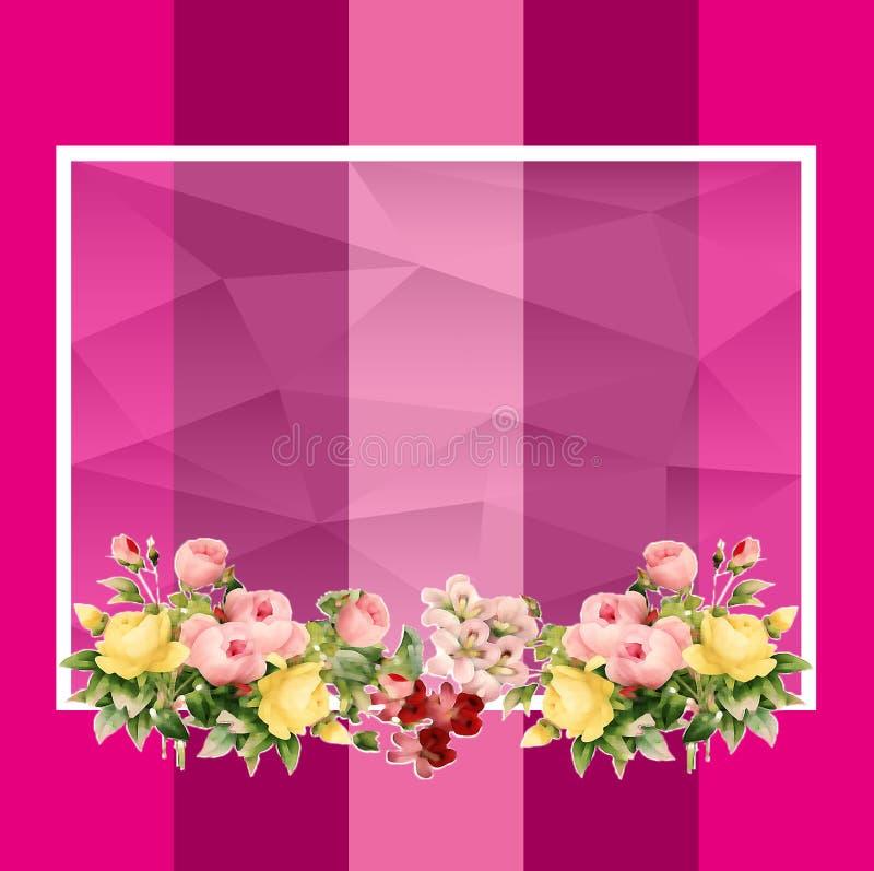 空的花框架 皇族释放例证