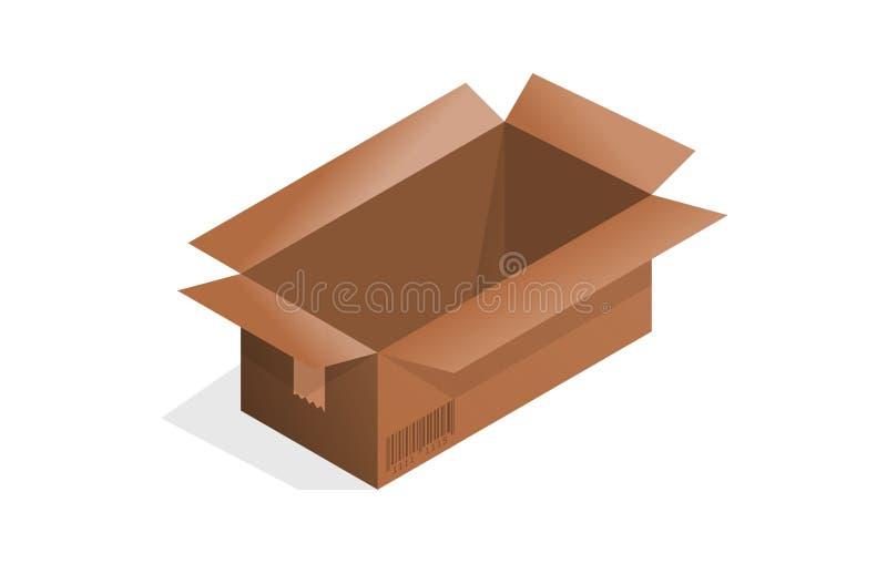 空的cardbox 皇族释放例证