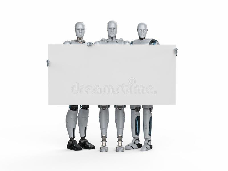 空白董事会机器人 库存例证