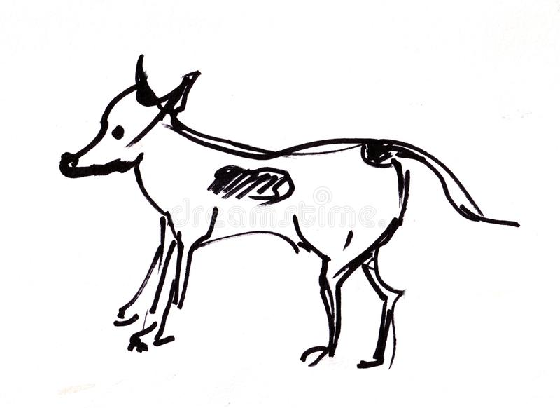 立即剪影,狗 向量例证