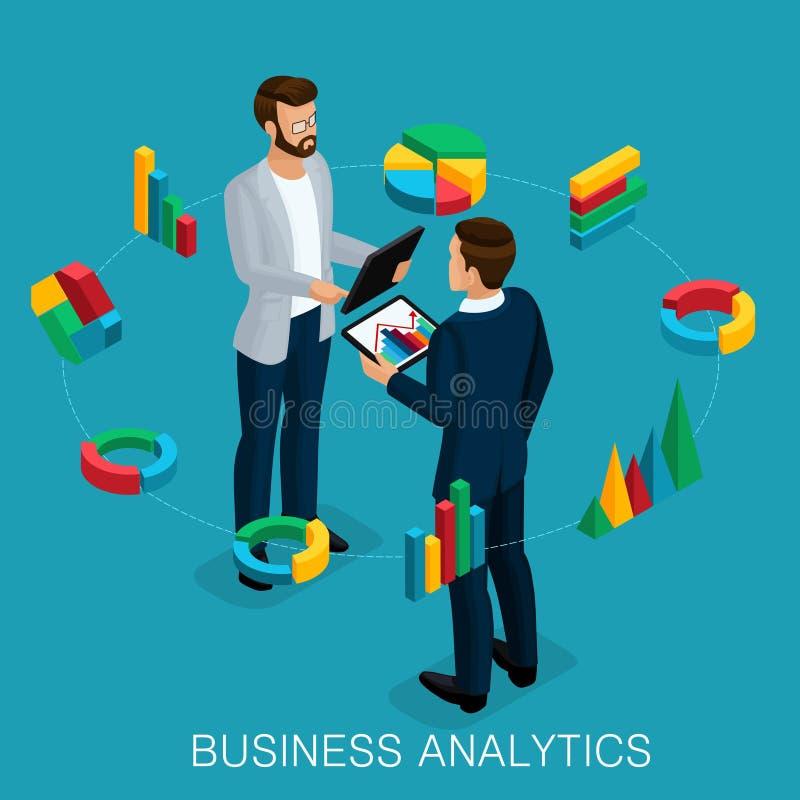 等量企业分析家,商人 库存例证