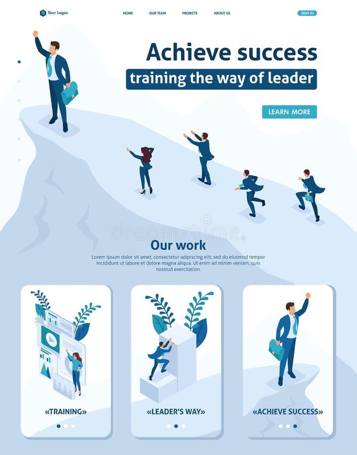 等量在顶端商人领导成功 库存例证