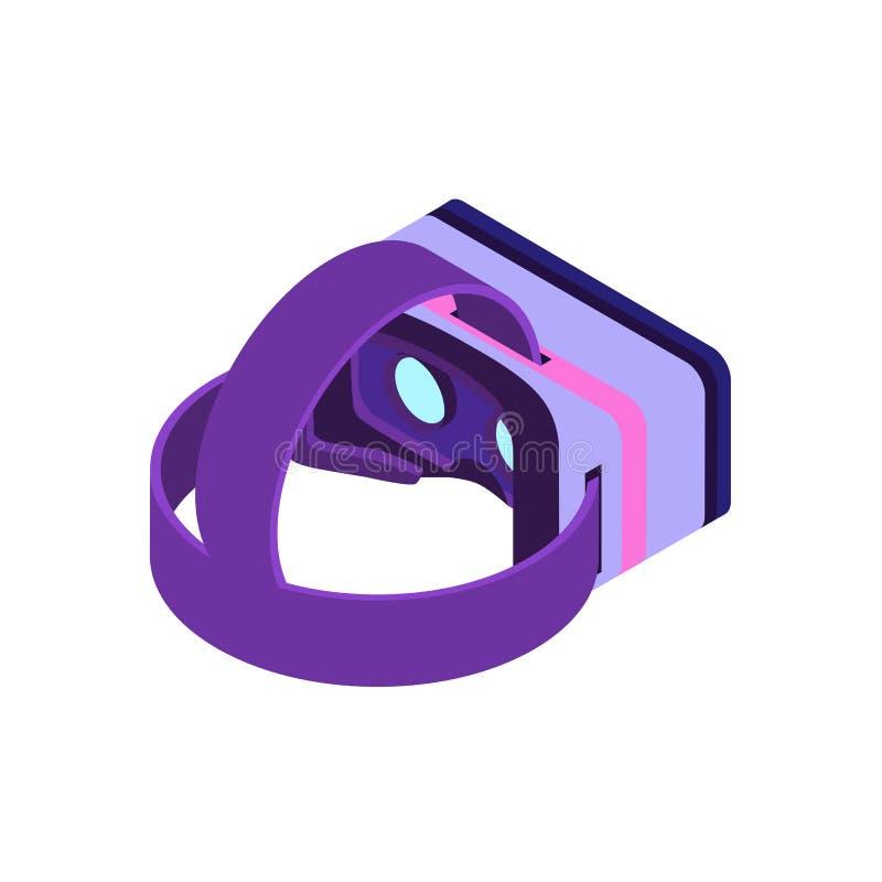 等量虚拟现实玻璃 库存例证