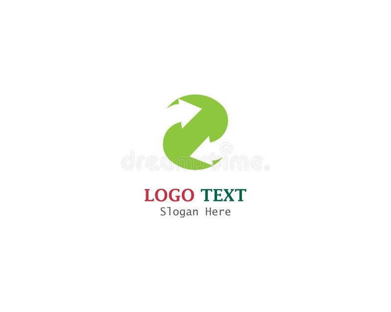 箭头导航例证商标模板设计 库存例证