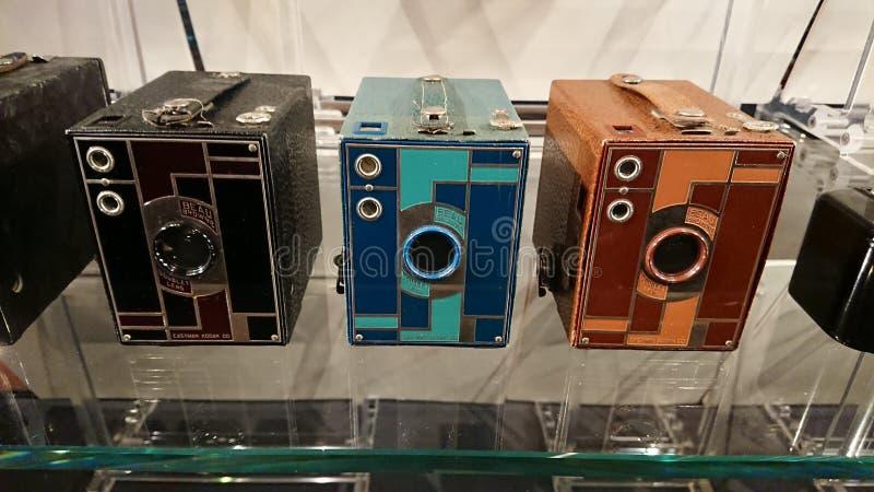 箱子果仁巧克力照相机颜色 图库摄影