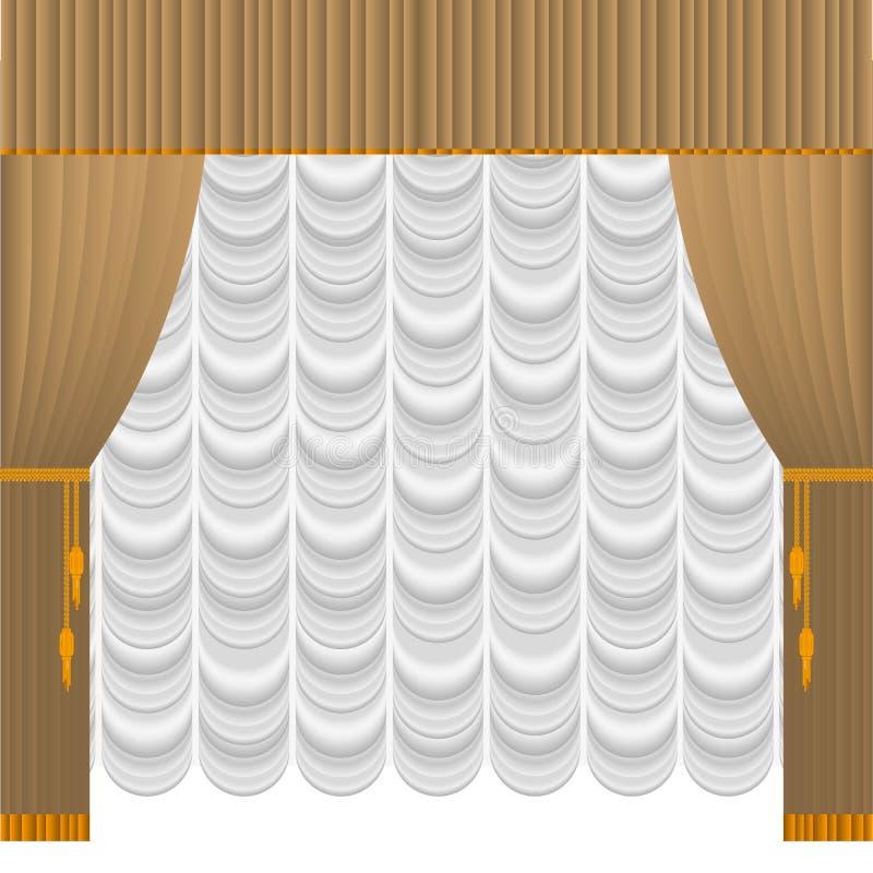 米黄窗帘 库存例证