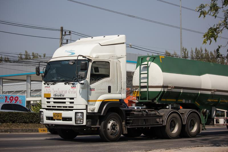 糖浆Thai Molaz Company槽车  免版税图库摄影