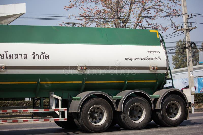 糖浆Thai Molaz Company槽车  免版税库存图片