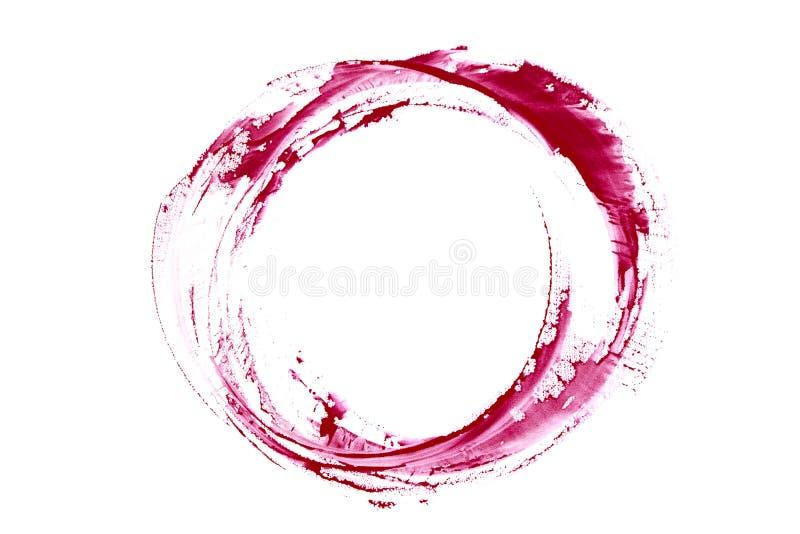 红葡萄酒污点 踪影酒飞溅 库存照片
