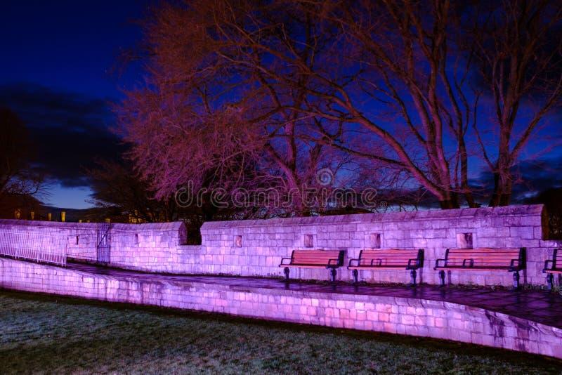 约克市墙壁在晚上 库存照片