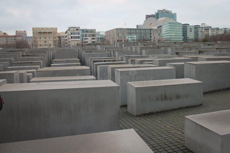 纪念品的平板对欧洲的被谋杀的犹太人的 免版税图库摄影