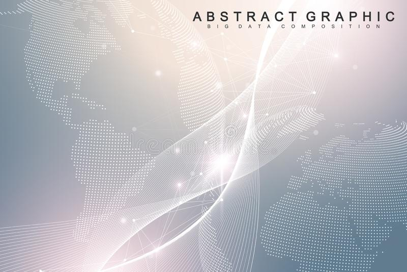 纳诺技术抽象背景 网络技术概念 人工智能,虚拟现实,仿生学 皇族释放例证