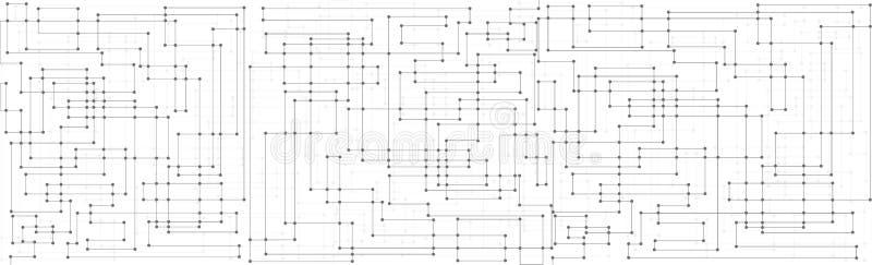 线和光点图形背景 库存例证