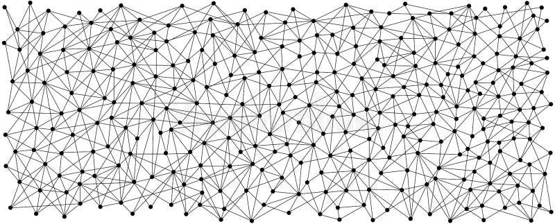 线和光点图形背景 黑色通信概念收货人电话 向量例证