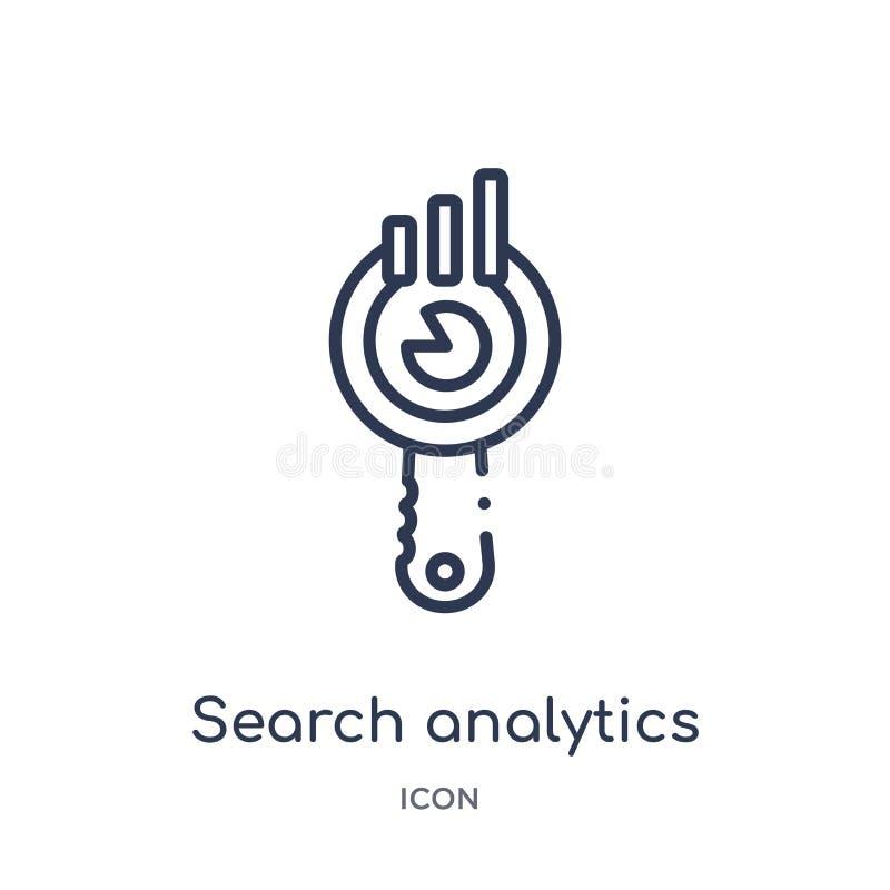 线性搜索从企业和逻辑分析方法概述汇集的逻辑分析方法象 稀薄的线查寻在白色隔绝的逻辑分析方法传染媒介 向量例证