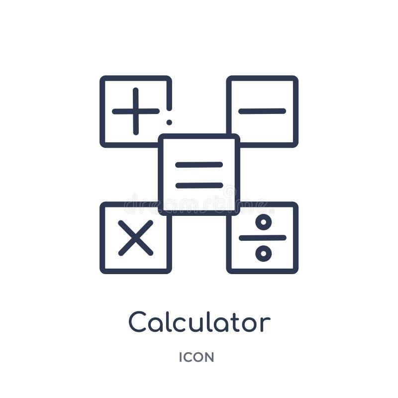 线性计算器按从教育概述汇集的接口象 稀薄的线计算器按接口象被隔绝 皇族释放例证