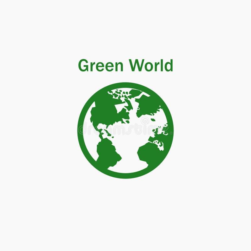 绿色世界 世界象 也corel凹道例证向量 10 eps 皇族释放例证