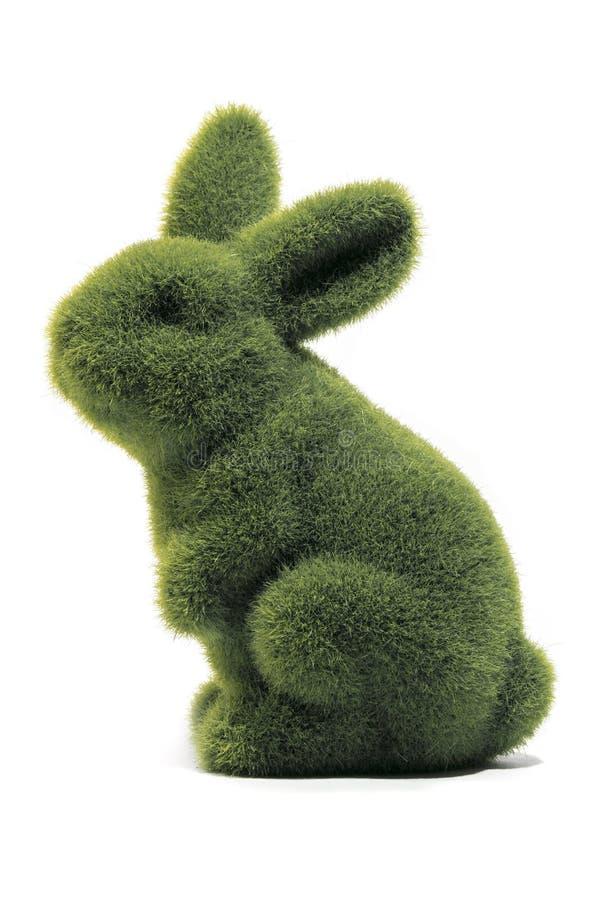 绿色复活节兔子 免版税库存图片