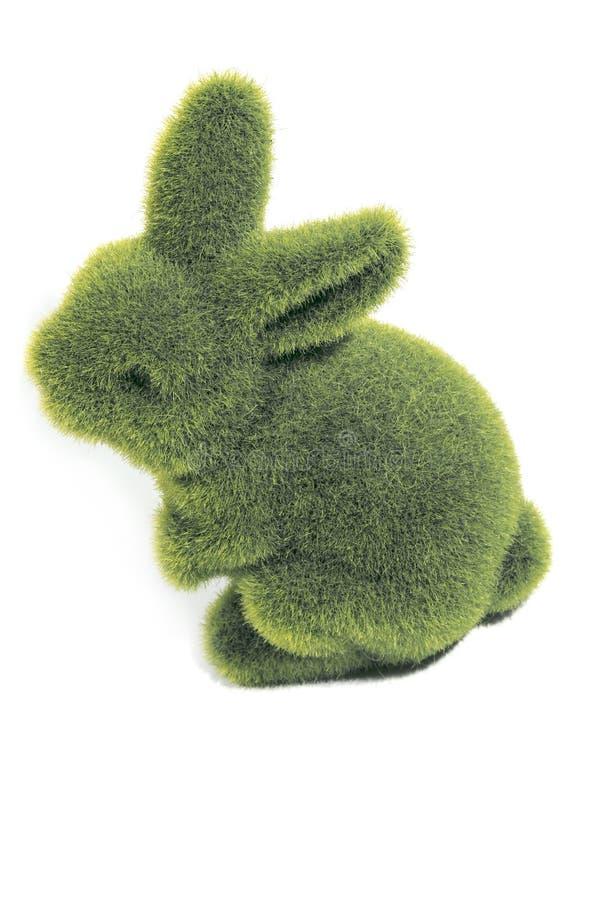 绿色毛茸的复活节兔子的 库存照片