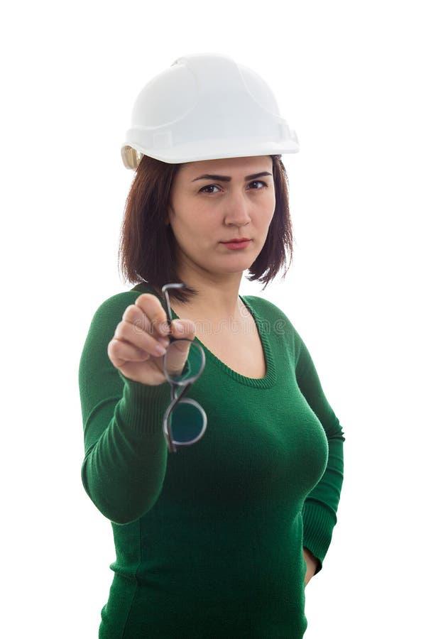 给玻璃的工程师 免版税库存照片