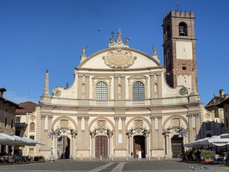 维杰瓦诺,意大利:历史的广场Ducale 库存图片