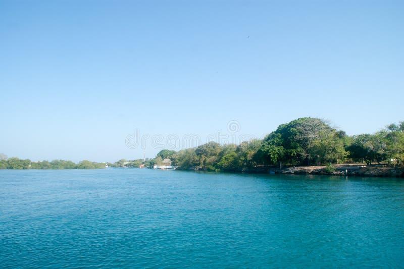 罗萨里奥群岛,哥伦比亚 图库摄影