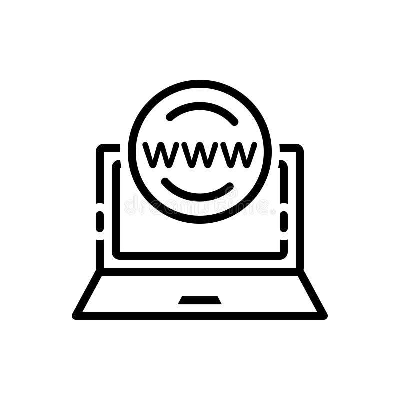 网上,存在和管理的黑线象 库存例证